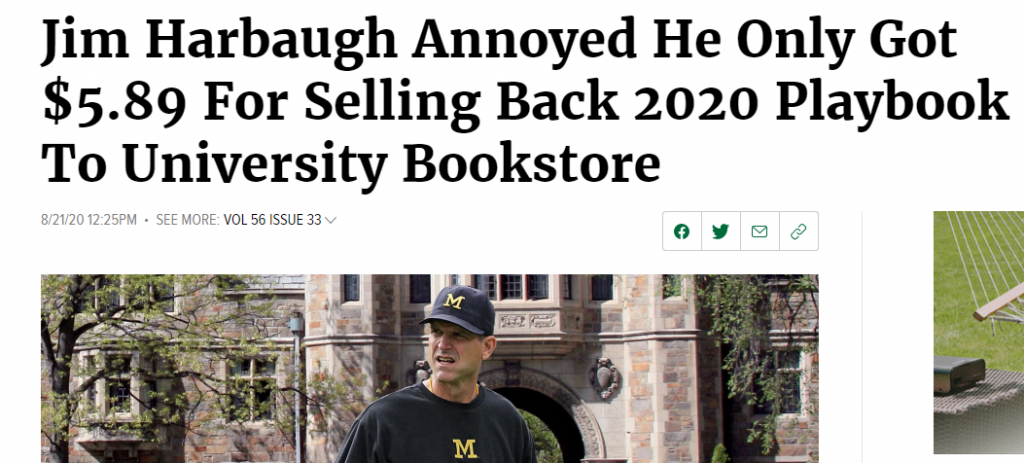 Jim Harbaugh the onion article